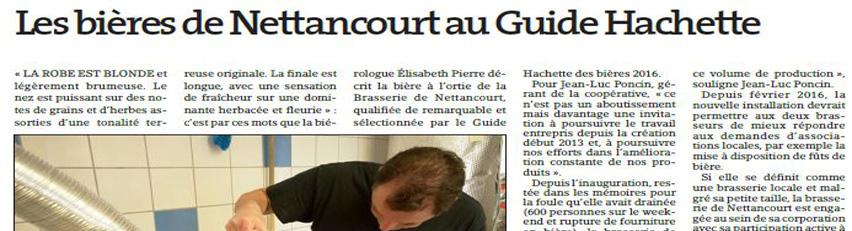 Dans le Guide Hachette des Bières !