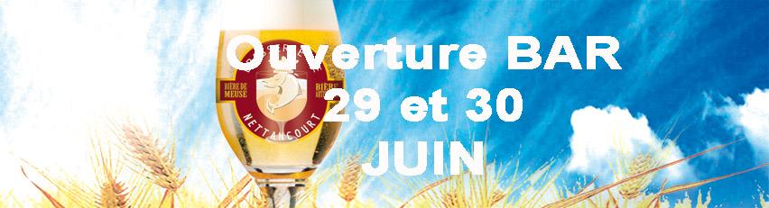 Ouverture bar des 29 et 30 juin